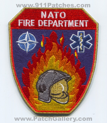 Brussels NATO Fire Department Patch (Belgium)