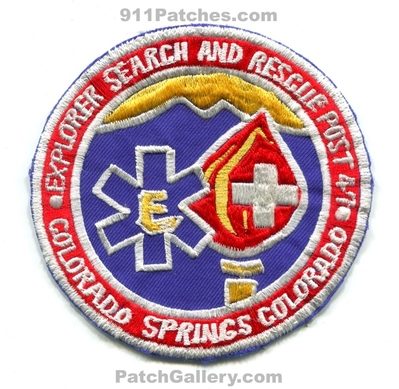 El Paso County Search and Rescue Explorer Post 47 Colorado Springs Patch (Colorado)