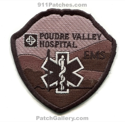 Poudre Valley Hospital Emergency Medical Services EMS Patch (Colorado)