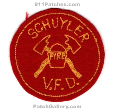 Schuyler Volunteer Fire Department Patch (UNKNOWN STATE)